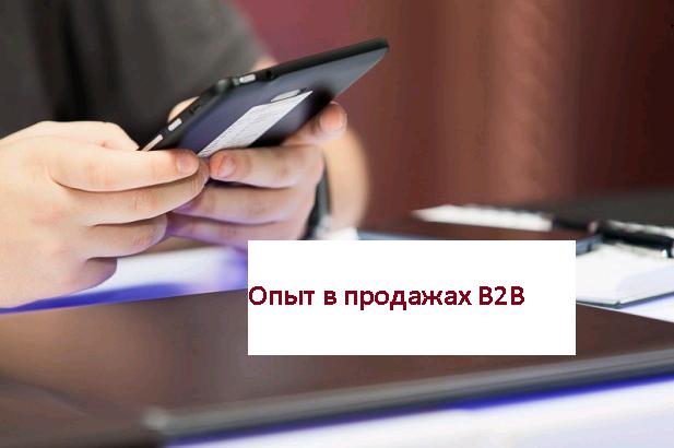 Опыт в продажах B2B